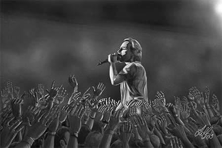 Eddie Vedder portrait sketch