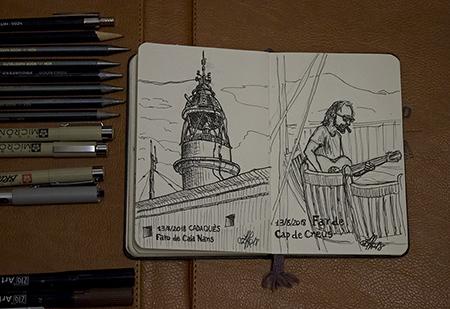 Sketchbook landscape pen & ink
